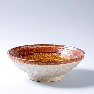 Plato de cuenco de cerámica rústico hecho a mano decoración del hogar esmalte marrón con textura