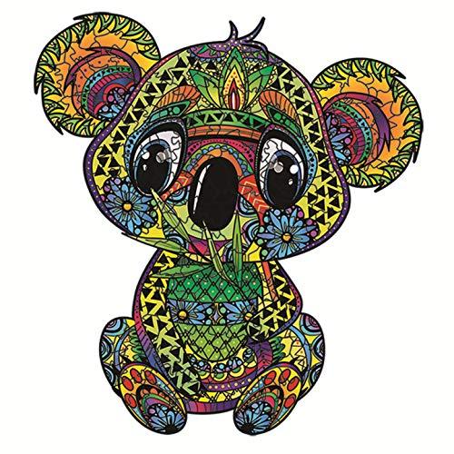 Puzzle de Madera,Rompecabezas de Animales,Puzzle de Colorido de Forma única Puzzle Animales para Adultos y Niños Colección de Juegos Familiares