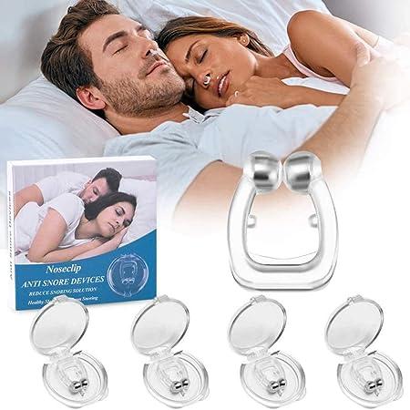 TBONEEY Antironquidos Clip Nasal Magnético, 4 Piezas Dilatador Nasal para Detener los Ronquidos, Facilitar la Respiración y Dormir Cómodo