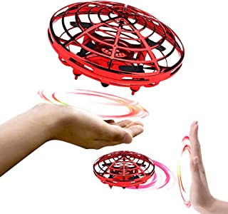 BixMe Hand Operated Flying Mini UFO Drone ,Hands Free Helicopter Birthday Gift Hand Controlled Mini Quadcopter for Kids Bo...