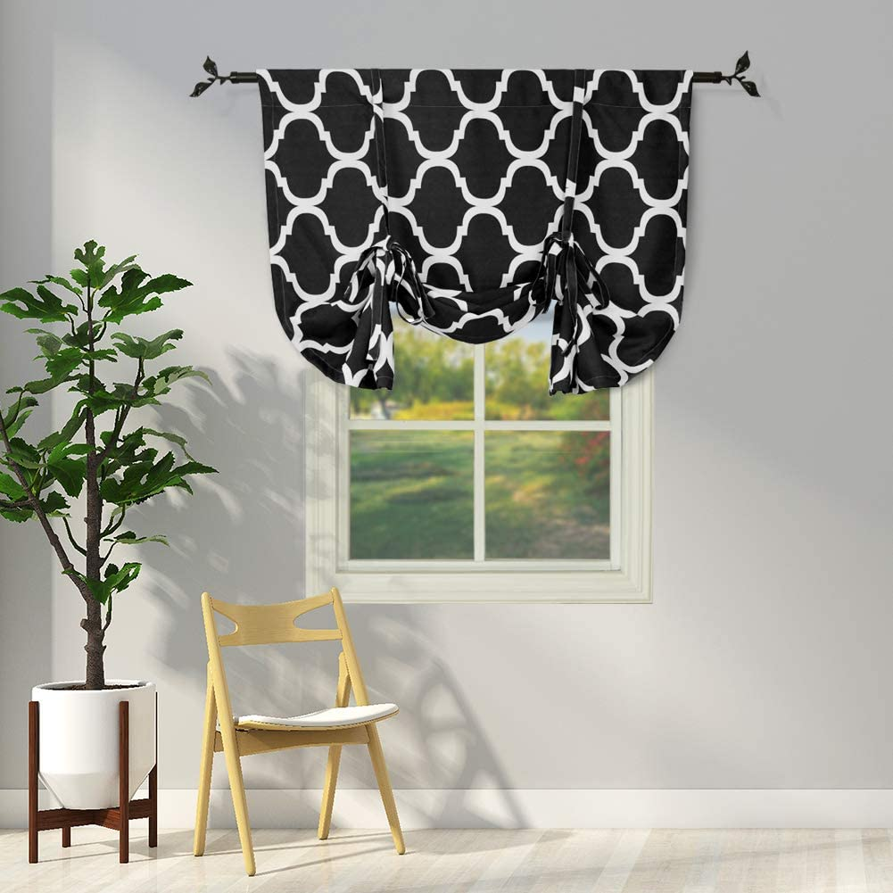 Melodieux Moroccan 1 year warranty Thermal Insulated Max 77% OFF Tie Room Darkening Shade Up