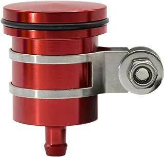 CNC Aluminum Oil Cup Front or Rear Brake Fluid Reservoir For Yamaha FZ01 FZ03 FZ07 FZ09 FZ10 YZF R1 R3 R6 R25 R15 R125 600R, Tmax 500,Tmax 530 CBR 125R 150R 250R 300R 250RR 400 600F 600RR - Red