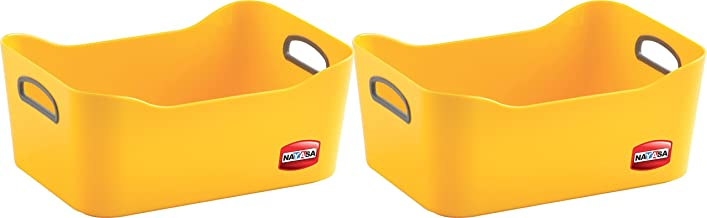 Nayasa Passion Fruit Basket, Set of 2, Yellow