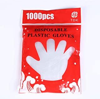 Disposable Gloves, Large, Clear (Pack of 1000) (Color : Clear, Size : L)