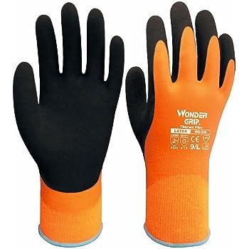 5 Paare Mit Wonder Grip WG318 AQUA Latex Griff Handschuhe Nass Arbeits