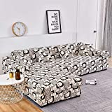 Fundas de sofá Chaise Longue Impresas en Forma de L para Sala de Estar Protector de sofá Fundas elásticas Antipolvo para sofá de Esquina A25 2 plazas