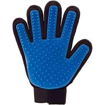 Foodie Puppies Grooming and Deshedding Brush Hair Massager Groomer Glove for Dogs, Cats (Color May Vary)