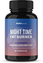 MAV Nutrition Weight Loss Pills Night Time Fat Burner for Women & Men | Sleep Aid Diet Pills, Appetite Suppressant, Metabo...