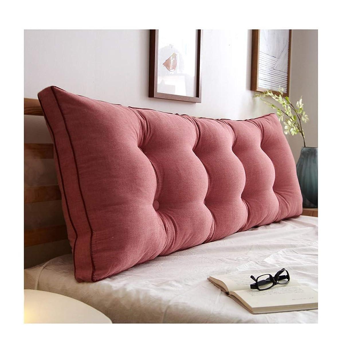 辞任小競り合い理容室2J-QingYun Trade PILLOWS実用的なオフィスのベッドサイドのソファーウエストクッションベッドソフトパック三角枕寝室大型背もたれクッションコットン長方形Dddlt-枕とクッション (サイズ : 120cm)