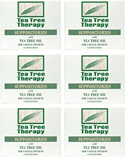 Tea Tree Suppository Tea Tree Therapy (6-Pack of 6)