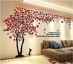 LUHSICE Family Tree Tv Mirror Sticker Walls Decor (Red 78.7