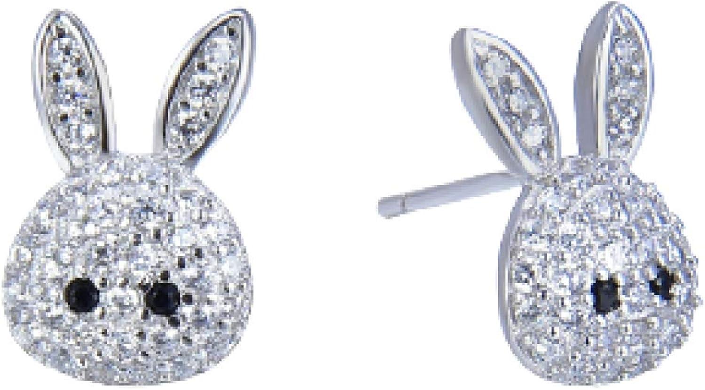 Stud Earrings BunnyS925 White FungusStuds Latest item Ultra-Cheap Deals Sweet Fresh Fema And