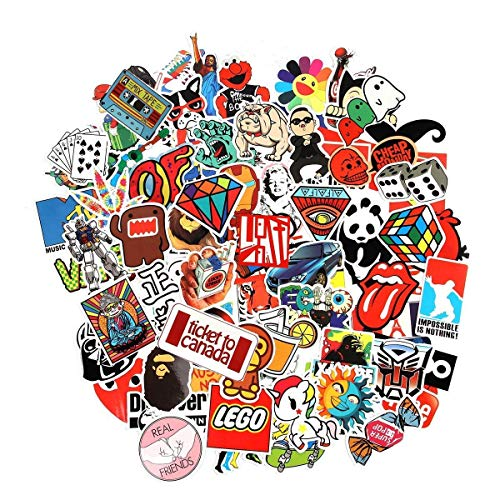 Laptop Stickers, Cool Sticker, Sun Protection and Waterproof Stickers for Luggage Car Bike Bicycle Random Music Film Vinyl Skateboard Guitar Travel Case (100pcs) …