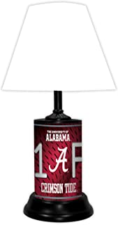 TAGZ SPORTS UNLIMITED Alabama Crimson Tide NCAA Desk/Table Lamp with White Shade