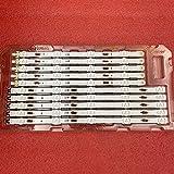 10 tiras de retroiluminación LED para Samsung UE40JU6100 UE40KU6000 UE40MU6100 UE40JU6400 UE40JU6500 UN40JU6400 V5DU-400DCB-R1 400DCA