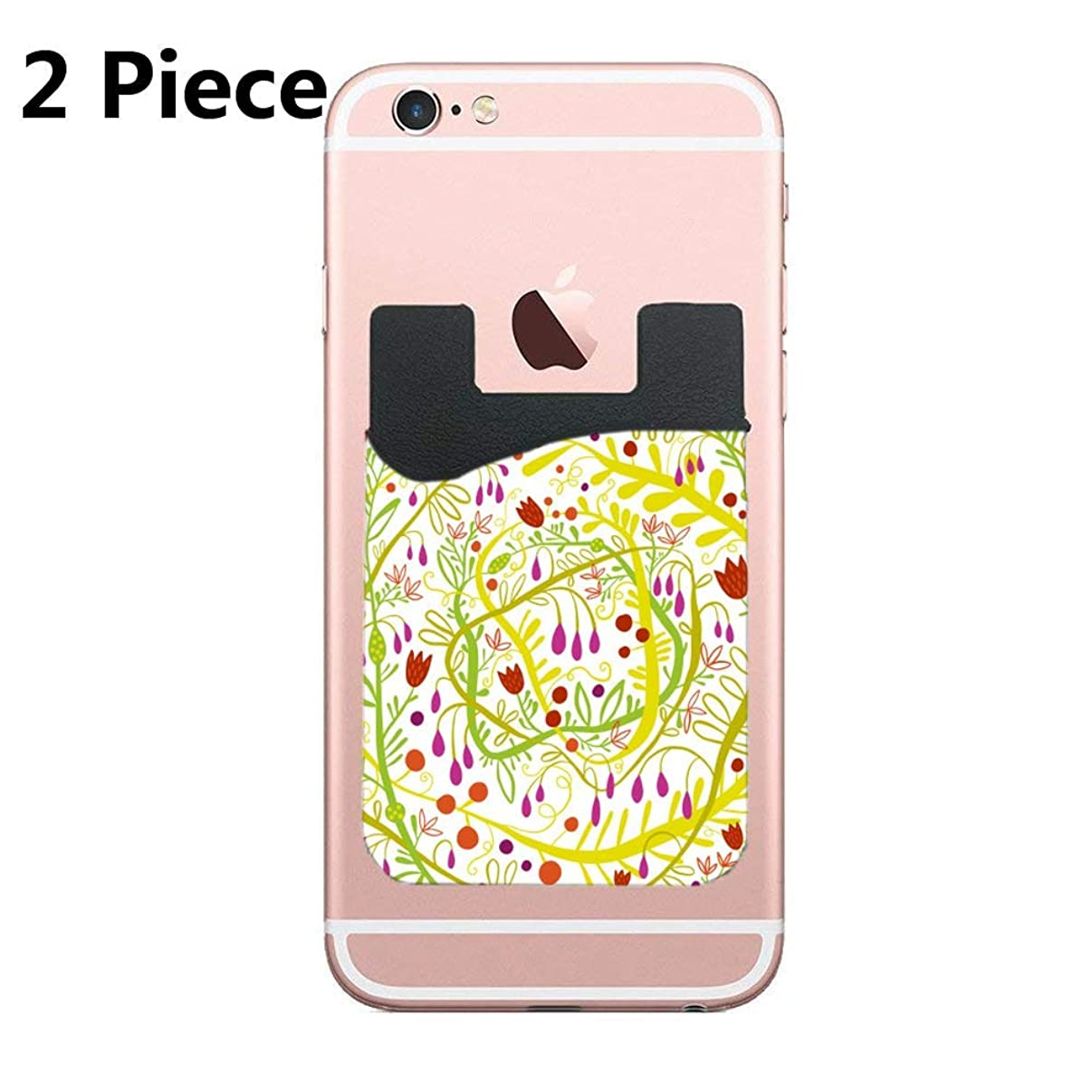 Cellcardphone Two Garden Gone Wild Cell Phone Stick on Wallet Card Holder Phone Pocket for All Smartphones