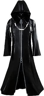 Wecos Adult Kingdom Organization Role Play Hearts Roxas Coat Halloween Long Leather Jacket Cosplay Costume