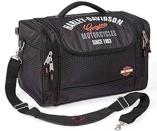 Harley-Davidson Extreme Hop Along IV Honeycomb Fabric Bag, Black 99211-BLACK