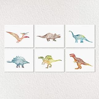 Boy Room Decorations, Boy Room Decor, Dinosaur Decor, Dinosaur Wall Art, Boy Nursery Decor, Dinosaur Wall Decor, Boy Nursery Art, Dinosaur Sets, Watercolor Dinosaurs, 8x10inch Unframed - Set of 6