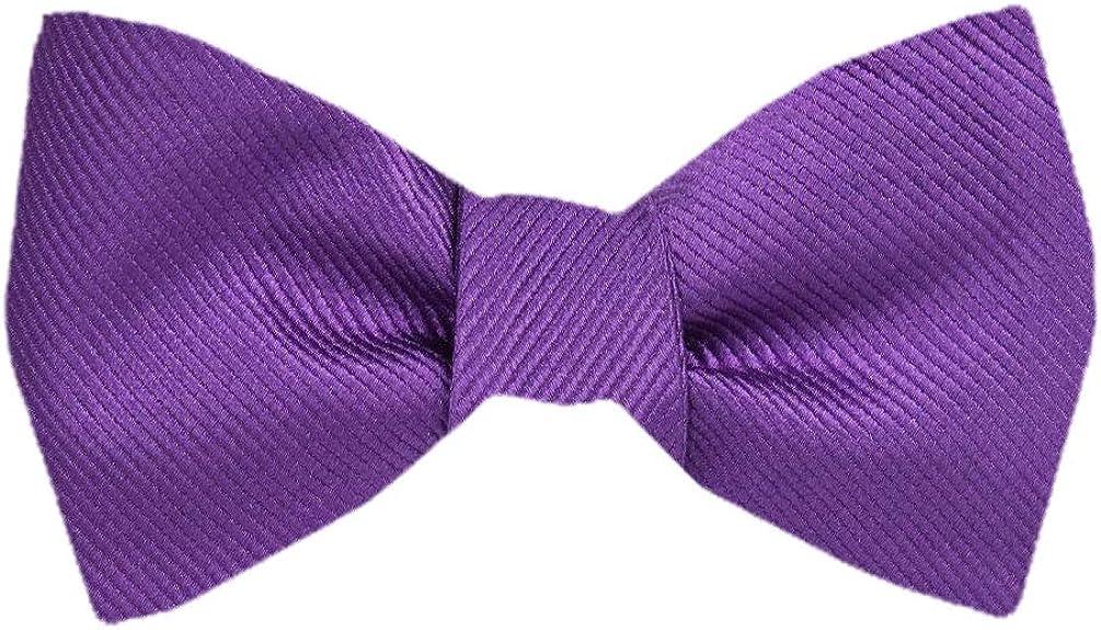 Men's Purple Silk Pattern Self Tie Bowtie Tie Yourself Bow Ties