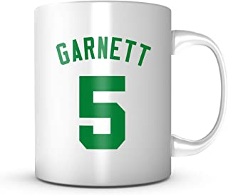 Kevin Garnett #5 Mug - Jersey Number Green/White Coffee Cup