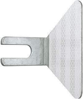 Guardrail butterfly reflectors, single sided white (inside) galvanized steel, 11/16