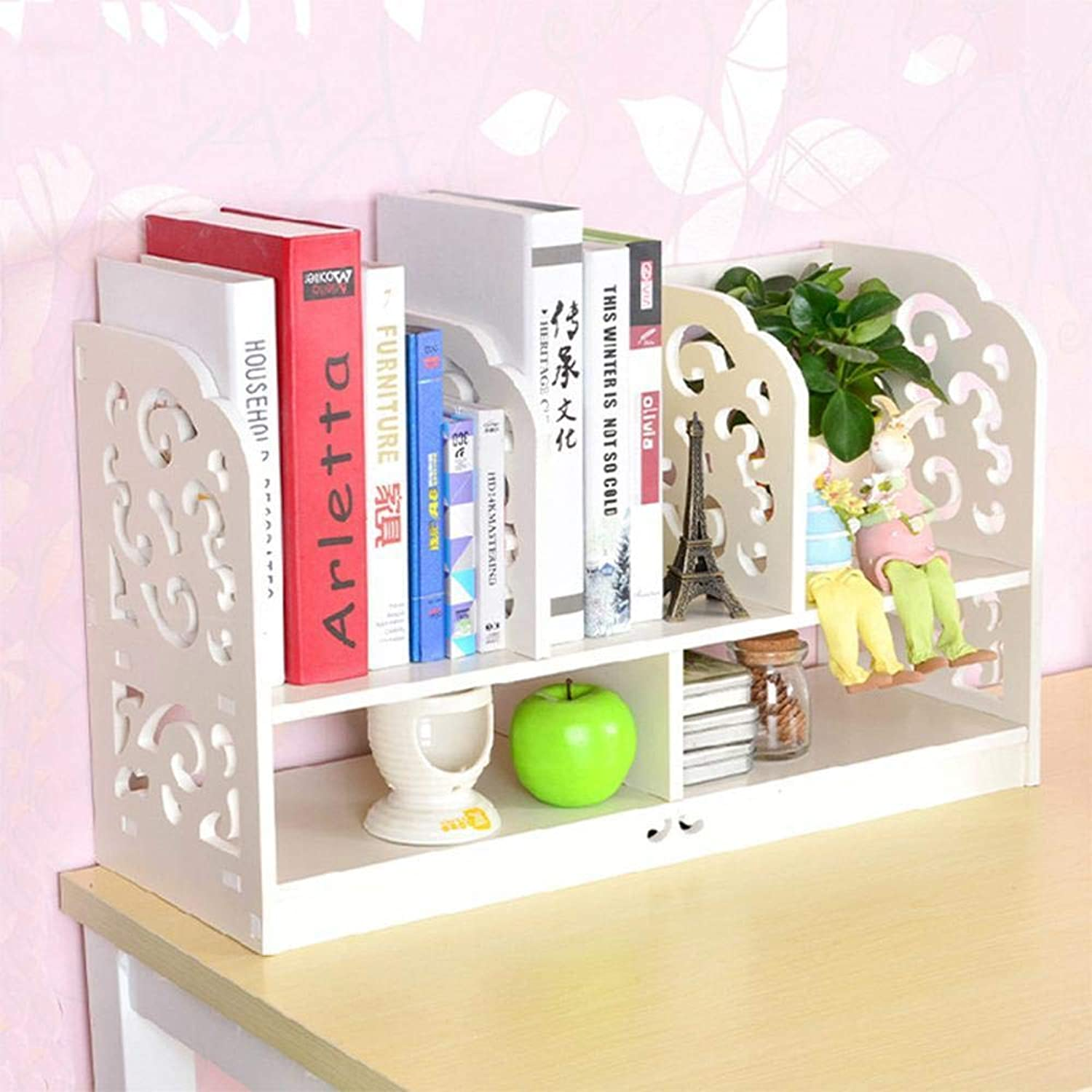 Yunfeng Bookshelf,Floor-Standing Multifunctional Rack Desk Surface Storage and Finishing Wood Plastic Board Multi-Layer Shelf