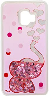 Galaxy J2 Core Case for Girls Women, WE3DCELL Glitter Biling Sparkly Girly Diamond Liquid Protective Phone Case for Samsung Galaxy J2 Core (Elephant)