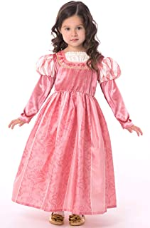 Coral Renaissance Princess Dress Up Costume for Girls