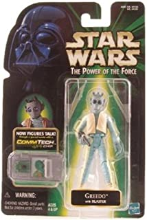Star Wars, The Power of the Force Comm Tech, Greedo Action Figure, 3.75 Inches