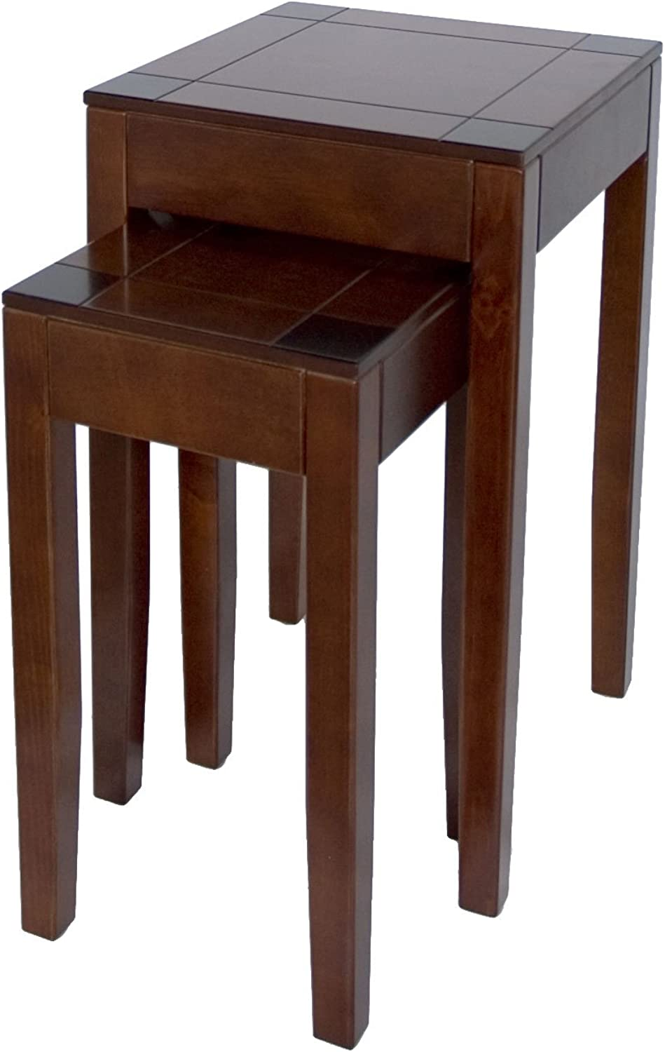 A68021 Wooden Nesting Table Set of 2