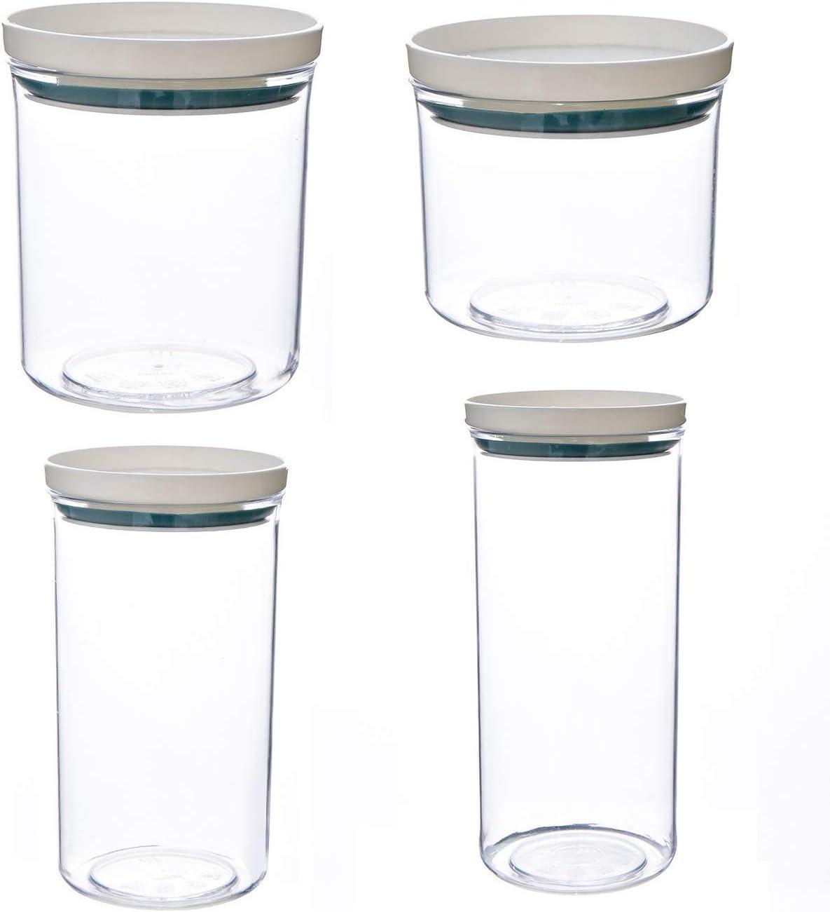 4pcs Fashion Airtight Jar 250 350 Max 74% OFF Plastic Ja 700ml 550 Kitchen