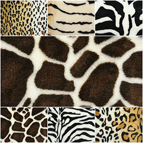 DIE NÄHZWERGE Superflausch Fellimitat von 6 Tierarten – Meterware ab 50cm | Wellness-Fleece Softplüsch Microfleece Kunstfell Pelzimitat vegan Faux fur (Giraffe)