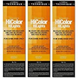 L'Oreal HiColor HiLights NATURAL BLONDE Permanent Hair Color HC-05123 (3 Pack)