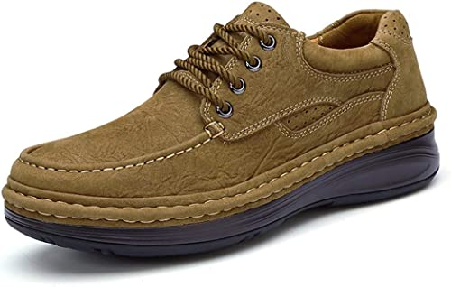 Hhor Chaussures de randonnée pour Hommes en Cuir, Sports de Plein air, de Plein air, de qualité supérieure, UK 8.5 (Couleuré   -, Taille   -)