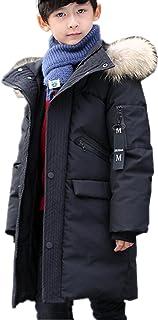 SANKU ボーイズ アウター ジャケット フード付き 中綿 防風服 長袖 ロング丈 ジッパー トレンチコート 暖かい 子供服 人気 かっこいい 冬 おしゃれ 男の子コート キッズ フォーマル トレーナー