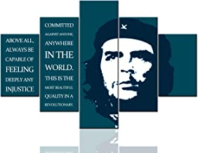 Che Guevara Paintings Inspirational Motivational Pictures Wall Art 5 Pcs/Multi Panel Canvas Pop Artwork Home Decor for Liv...