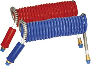 Stallion Combo Blue & Red Power Air Lines - Coiled Air Brake Component - 1/2