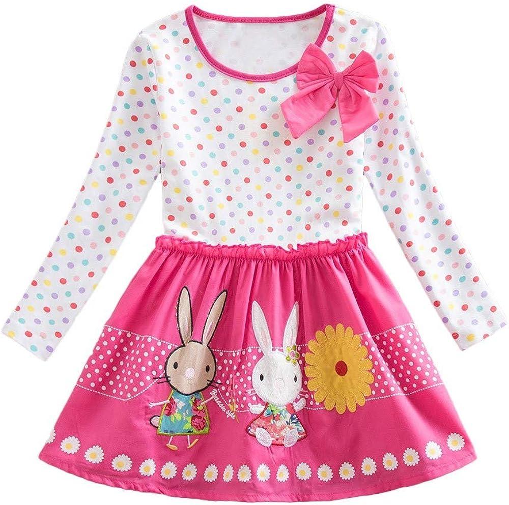 Nashville-Davidson Mall aihihe Toddler Girl Dress Clothes Girls Striped Baby Sleeve Long Cheap sale