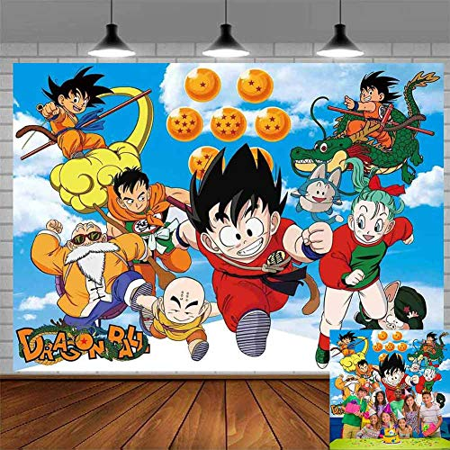 Dragon Ball Backdrop Poster Party Supplies Photography Kids Birthday Party Boy Baby Shower Background Step and Repeat Dessert Table Photo Studio Props
