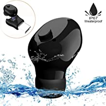 IP67 Waterproof Swimming Earbud - Sport Wireless Bluetooth Headphone - Sweatproof Stable Fit in Ear Workout Headset with Mic Special for Swimming Driving Showering Sauna(One Pcs)
