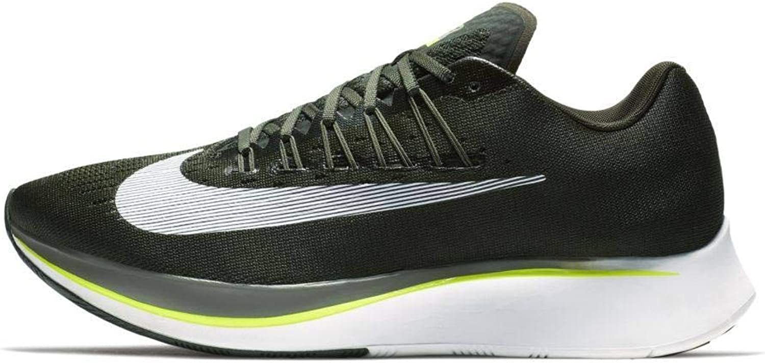 Nike Mens Zoom Fly Running shoes Sequoia White-Medium Olive 880848-301 (10.5)