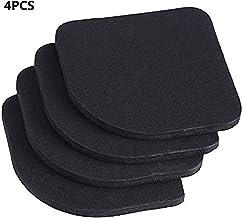 4pcs Pies Almohadillas Antivibraciones Almohadillas Silencioso Ruedas Almohadillas de Goma para Lavadora Nevera Hogar