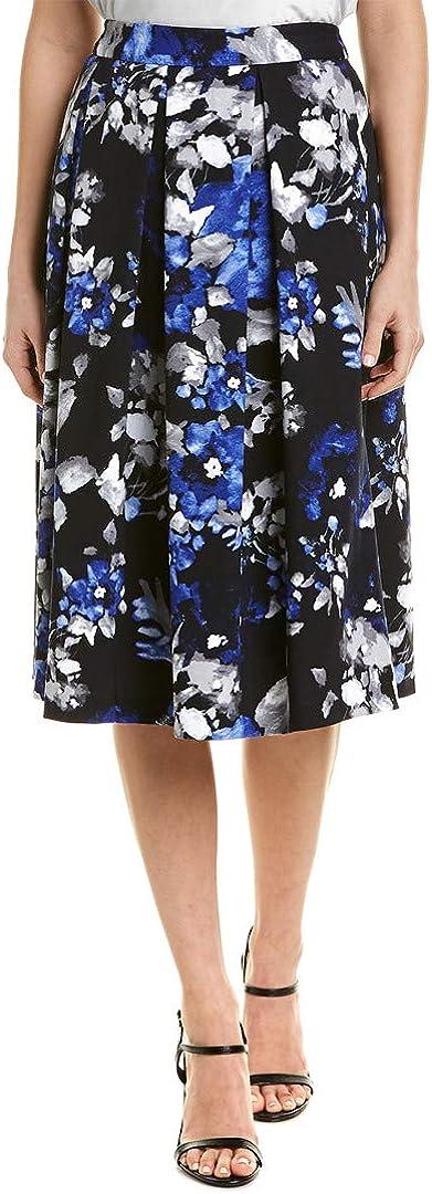Time sale Free Shipping New Tahari ASL Women's Printed Pleat Inverted Skirt MIDI