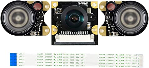 Waveshare IMX219-160IR Camera Supports NVIDIA Jetson Nano Developer Kit 8 Megapixels Infrared Night Vision 160° FOV Suits for AI Projects