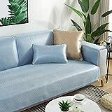 YUTJK Cubierta de sofá de Verano Fresco Monocromo,Fundas de Almohada cuadradas Funda de sofá,Suaves para el sofá,el Dormitorio y el Coche,Azul 2_70×150cm