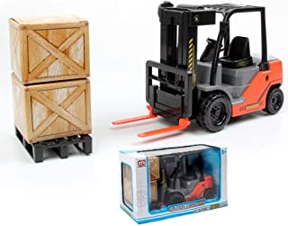 1:22 Scale Friction Fork Lift with Pallets Warehouse Truck Vehicle Toy Forklift for Kids