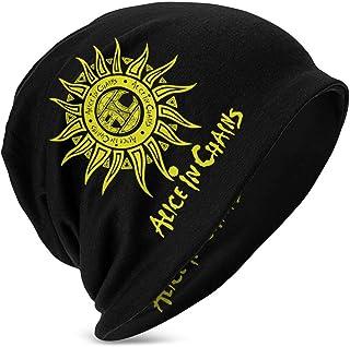 Hdadwy Beanie Hat Alice in Chains Gorro de Punto de Gallo con puños y Gorro de Calavera Fina para niños y niñas, Color Negro