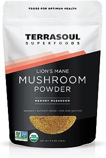 Terrasoul Superfoods Organic Lion's Mane Mushroom Powder (4:1 Extract), 5.5 Ounces