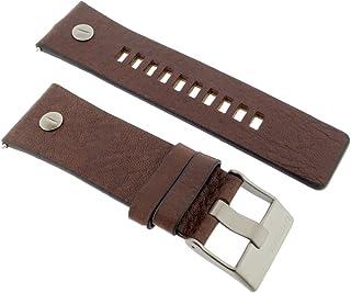 Diesel, cinturino di ricambio per orologio, LB-DZ7314, originale, in pelle, 28mm, marrone